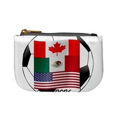 United Football Championship Hosting 2026 Soccer Ball Logo Canada Mexico Usa Mini Coin Purses by yoursparklingshop