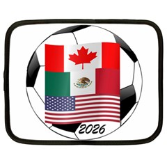 United Football Championship Hosting 2026 Soccer Ball Logo Canada Mexico Usa Netbook Case (xxl)