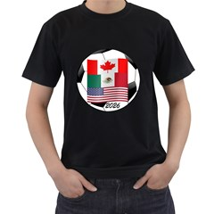 United Football Championship Hosting 2026 Soccer Ball Logo Canada Mexico Usa Men s T Shirt (black)