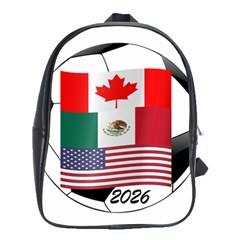 United Football Championship Hosting 2026 Soccer Ball Logo Canada Mexico Usa School Bag (large)