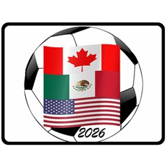 United Football Championship Hosting 2026 Soccer Ball Logo Canada Mexico Usa Fleece Blanket (large)