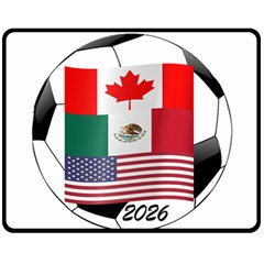 United Football Championship Hosting 2026 Soccer Ball Logo Canada Mexico Usa Fleece Blanket (medium)