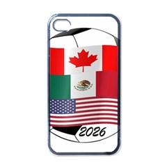United Football Championship Hosting 2026 Soccer Ball Logo Canada Mexico Usa Apple Iphone 4 Case (black)