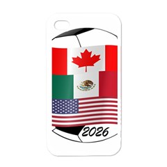 United Football Championship Hosting 2026 Soccer Ball Logo Canada Mexico Usa Apple Iphone 4 Case (white)