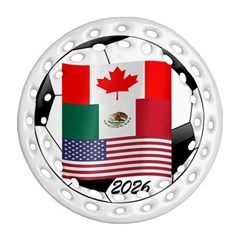 United Football Championship Hosting 2026 Soccer Ball Logo Canada Mexico Usa Ornament (round Filigree)