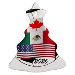 United Football Championship Hosting 2026 Soccer Ball Logo Canada Mexico Usa Christmas Tree Ornament (two Sides)