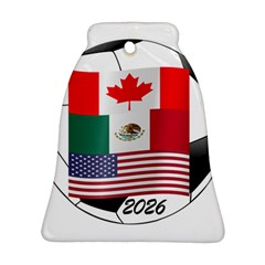 United Football Championship Hosting 2026 Soccer Ball Logo Canada Mexico Usa Bell Ornament (two Sides)
