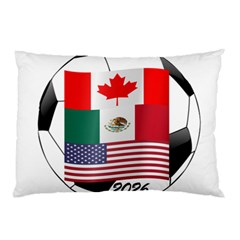 United Football Championship Hosting 2026 Soccer Ball Logo Canada Mexico Usa Pillow Case (two Sides)