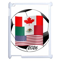 United Football Championship Hosting 2026 Soccer Ball Logo Canada Mexico Usa Apple Ipad 2 Case (white)