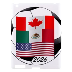 United Football Championship Hosting 2026 Soccer Ball Logo Canada Mexico Usa Apple Ipad 3/4 Hardshell Case