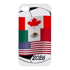 United Football Championship Hosting 2026 Soccer Ball Logo Canada Mexico Usa Apple Iphone 4/4s Premium Hardshell Case