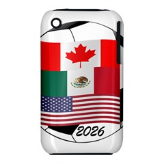 United Football Championship Hosting 2026 Soccer Ball Logo Canada Mexico Usa Iphone 3s/3gs