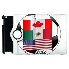 United Football Championship Hosting 2026 Soccer Ball Logo Canada Mexico Usa Apple Ipad 2 Flip 360 Case