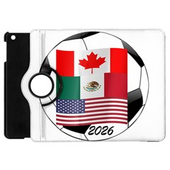 United Football Championship Hosting 2026 Soccer Ball Logo Canada Mexico Usa Apple Ipad Mini Flip 360 Case