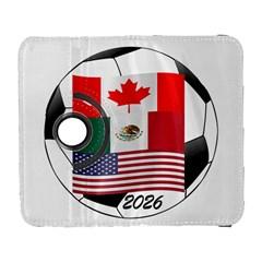 United Football Championship Hosting 2026 Soccer Ball Logo Canada Mexico Usa Samsung Galaxy S  Iii Flip 360 Case
