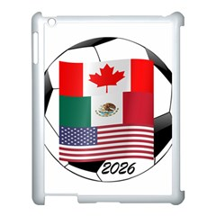 United Football Championship Hosting 2026 Soccer Ball Logo Canada Mexico Usa Apple Ipad 3/4 Case (white)