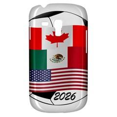 United Football Championship Hosting 2026 Soccer Ball Logo Canada Mexico Usa Samsung Galaxy S3 Mini I8190 Hardshell Case
