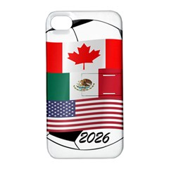 United Football Championship Hosting 2026 Soccer Ball Logo Canada Mexico Usa Apple Iphone 4/4s Hardshell Case With Stand
