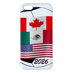 United Football Championship Hosting 2026 Soccer Ball Logo Canada Mexico Usa Apple Iphone 5 Premium Hardshell Case by yoursparklingshop