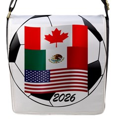 United Football Championship Hosting 2026 Soccer Ball Logo Canada Mexico Usa Flap Messenger Bag (s) by yoursparklingshop