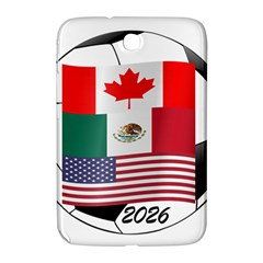 United Football Championship Hosting 2026 Soccer Ball Logo Canada Mexico Usa Samsung Galaxy Note 8 0 N5100 Hardshell Case
