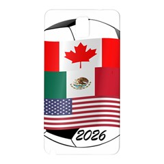 United Football Championship Hosting 2026 Soccer Ball Logo Canada Mexico Usa Samsung Galaxy Note 3 N9005 Hardshell Back Case