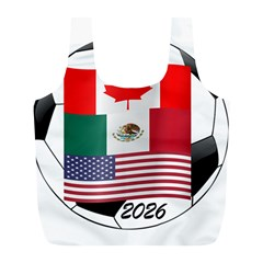 United Football Championship Hosting 2026 Soccer Ball Logo Canada Mexico Usa Full Print Recycle Bags (l)