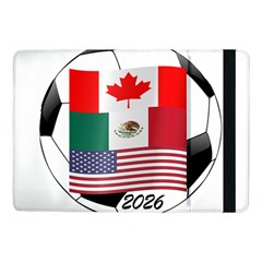 United Football Championship Hosting 2026 Soccer Ball Logo Canada Mexico Usa Samsung Galaxy Tab Pro 10 1  Flip Case
