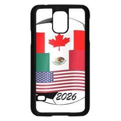 United Football Championship Hosting 2026 Soccer Ball Logo Canada Mexico Usa Samsung Galaxy S5 Case (black)