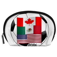 United Football Championship Hosting 2026 Soccer Ball Logo Canada Mexico Usa Accessory Pouches (large)