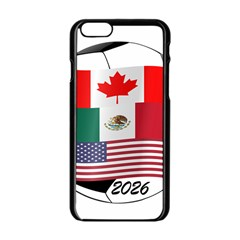 United Football Championship Hosting 2026 Soccer Ball Logo Canada Mexico Usa Apple Iphone 6/6s Black Enamel Case