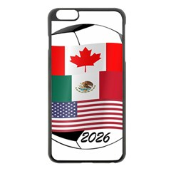 United Football Championship Hosting 2026 Soccer Ball Logo Canada Mexico Usa Apple Iphone 6 Plus/6s Plus Black Enamel Case