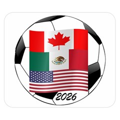 United Football Championship Hosting 2026 Soccer Ball Logo Canada Mexico Usa Double Sided Flano Blanket (small)