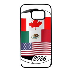 United Football Championship Hosting 2026 Soccer Ball Logo Canada Mexico Usa Samsung Galaxy S7 Black Seamless Case