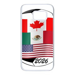 United Football Championship Hosting 2026 Soccer Ball Logo Canada Mexico Usa Samsung Galaxy S7 White Seamless Case