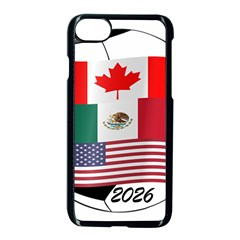 United Football Championship Hosting 2026 Soccer Ball Logo Canada Mexico Usa Apple Iphone 7 Seamless Case (black)