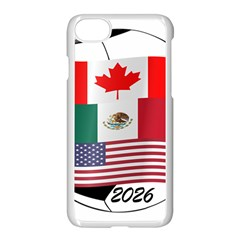 United Football Championship Hosting 2026 Soccer Ball Logo Canada Mexico Usa Apple Iphone 7 Seamless Case (white)