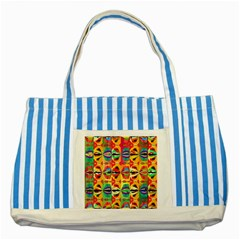 Colorful Shapes                                          Striped Blue Tote Bag