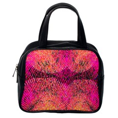New Wild Color Blast Purple And Pink Explosion Created By Flipstylez Designs Classic Handbags (one Side) by flipstylezdes