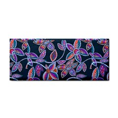 New Beautiful Purple Pink Green Mosaic Flowers Created By Flipstyle Designs Hand Towel by flipstylezdes