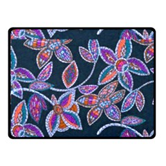 New Beautiful Purple Pink Green Mosaic Flowers Created By Flipstyle Designs Fleece Blanket (small)