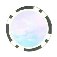 Pastel Pink And Blue Ombre Poker Chip Card Guard