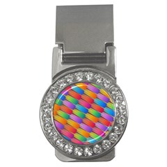 Colorful Textured Shapes Pattern                                      Money Clip (cz)
