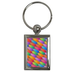 Colorful Textured Shapes Pattern                                      Key Chain (rectangle)