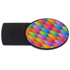 Colorful Textured Shapes Pattern                                      Usb Flash Drive Oval (4 Gb)