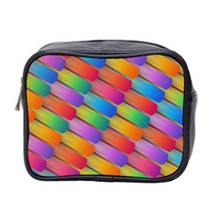 Colorful Textured Shapes Pattern                                      Mini Toiletries Bag (two Sides)