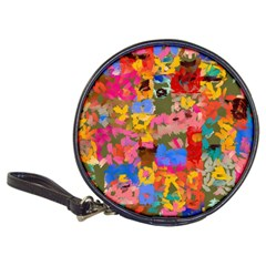 Coloful Strokes Canvas                                    Classic 20 Cd Wallet