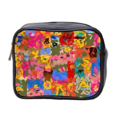 Coloful Strokes Canvas                                    Mini Toiletries Bag (two Sides) by LalyLauraFLM