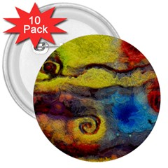 Painted Swirls                                    3  Button (10 Pack)