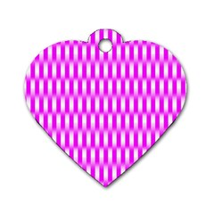 Series In Pink A Dog Tag Heart (one Side)